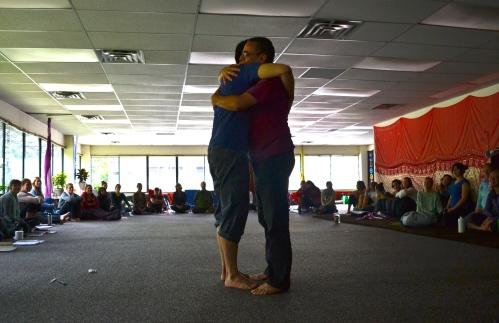 sharing a true hug