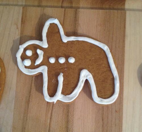ohhh heeeey trikonasana gingerbread man!