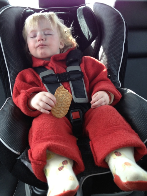she fell asleep mid cookie